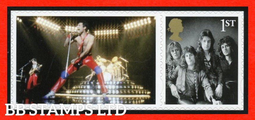 2020 Queen Album Covers set of 8 stamps (images may vary ) 4 x 1st 4 x £1.63) 09.07.20