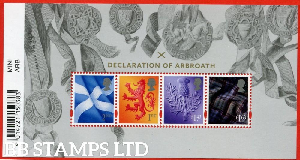 2020 Declaration of Arbroath Definitive Miniature Sheet 7.4.20