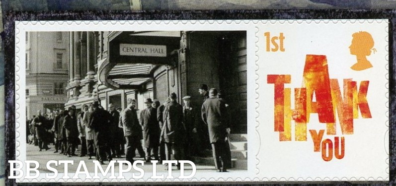 2020 The History of Stampex Spring Smiler sheet single stamp with label (Label May Vary)