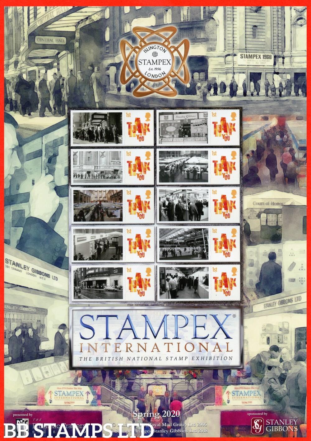 2020 The History of Stampex Spring Smiler sheet