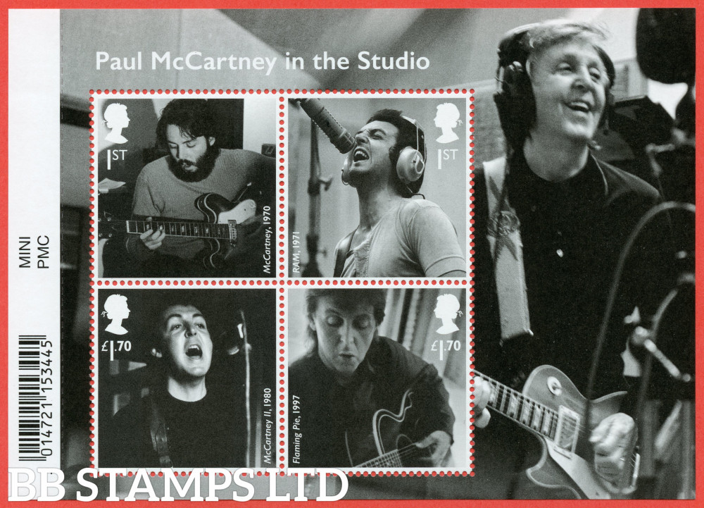 2021 Paul McCartney WITH BARCODE (MS containing 2x1st and 2x £1.70) (28.05.21)
