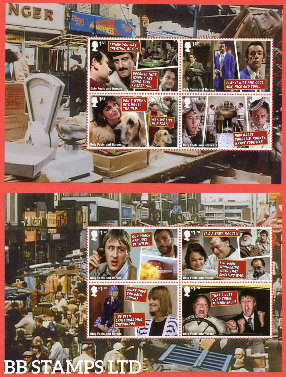 2021 Only Fools and Horses Pane 1&4 (3rd Issue?)