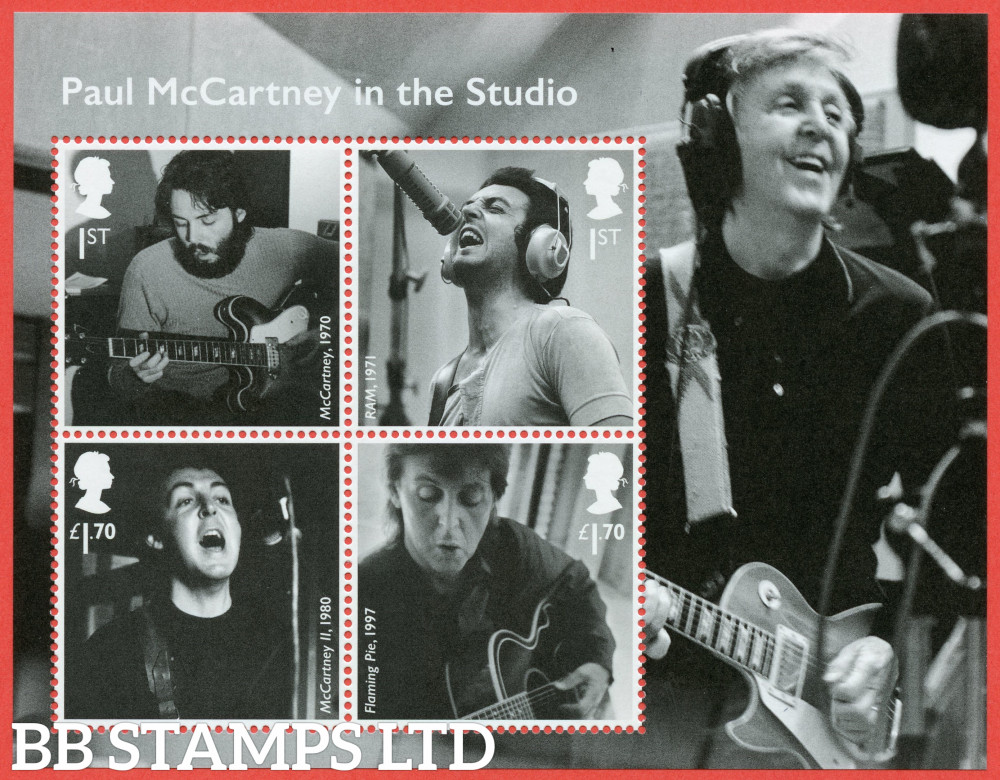 2021 Paul McCartney WITHOUT BARCODE (MS containing 2x1st and 2x £1.70) (28.05.21)