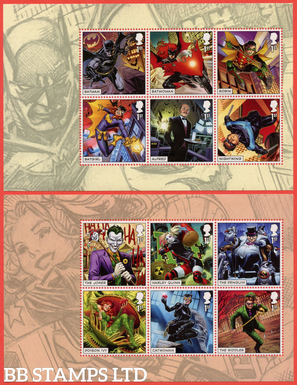 2021 DC Collection- DY40 ( Panes 1/2 ) (2nd Issue) (12x1st) (14.03.19)