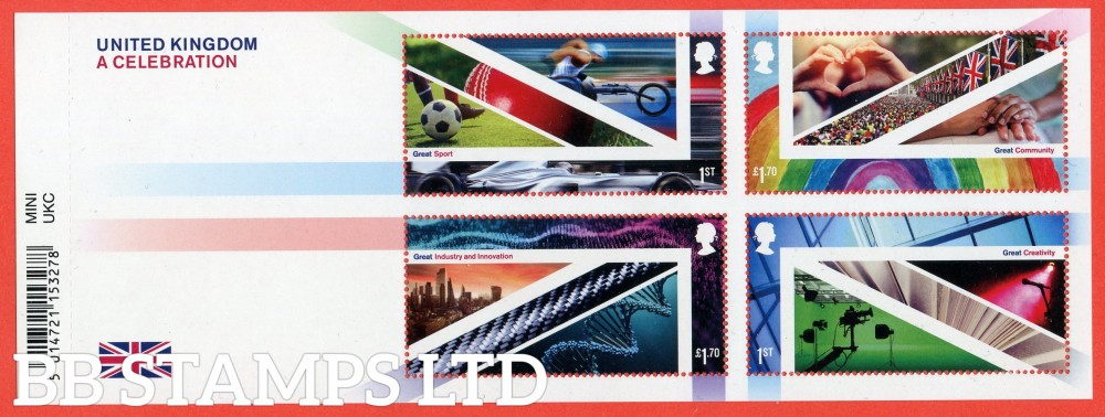 2021 United Kingdom-A Celebration WITH BARCODE (MS containing 2x1st and 2x £1.70)  26.01.21