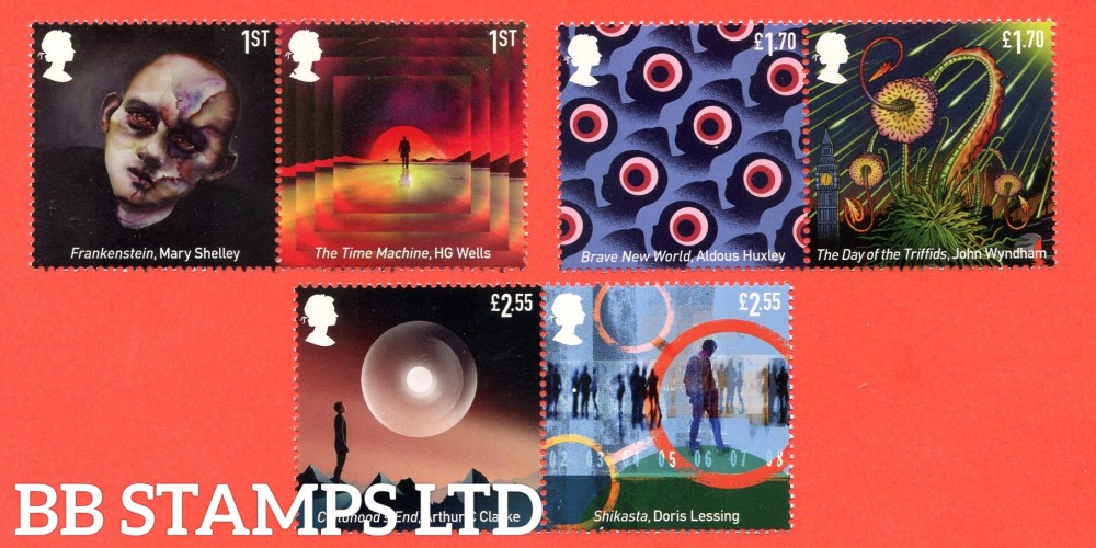 2021 Classic Science Fiction (3x horizontal pairs, 2 x 1st,2 x £1.70, 2 x £2.55) (15.04.21)