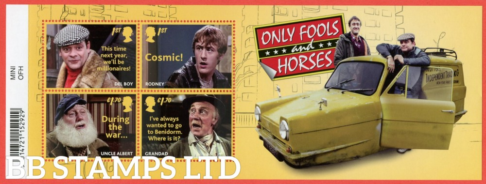 2021 Only Fools and Horses WITH BARCODE (MS containing 2x1st and 2x £1.70) 16.02.21
