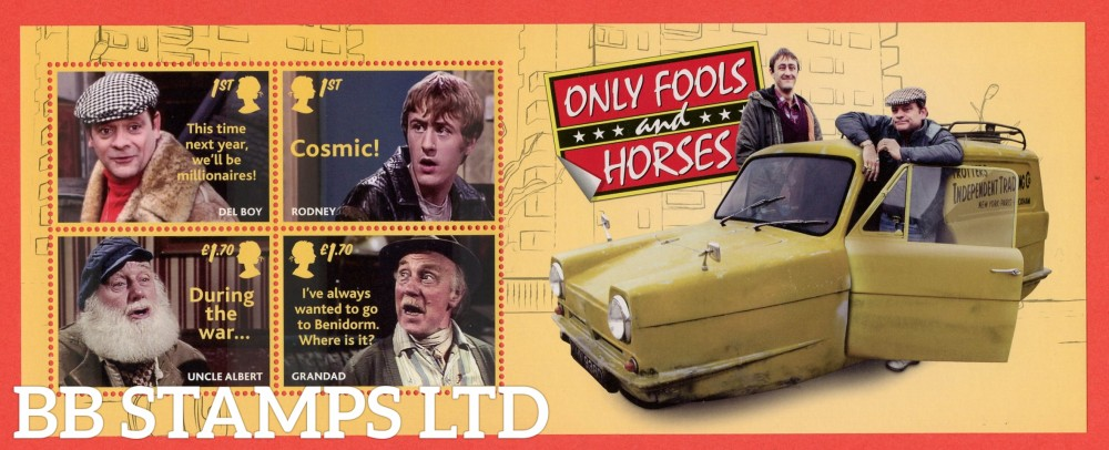 2021 Only Fools and Horses WITHOUT BARCODE (MS containing 2x1st and 2x £1.70) 16.02.21