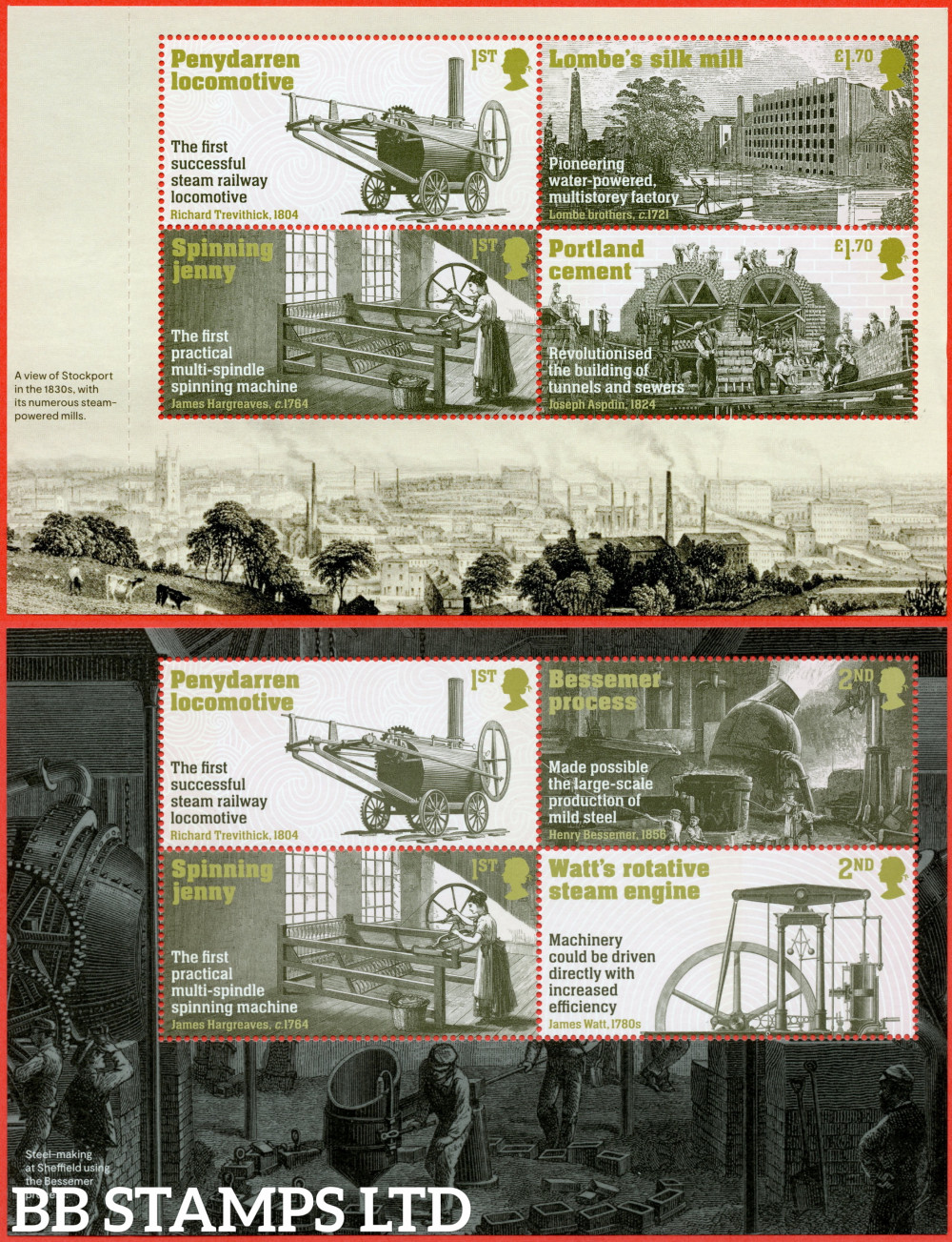 2021 Industrial Revolutions (Pane 1&2) (DY39) (12.08.21) (3rd Issue)