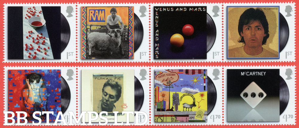 2021 Paul McCartney  ( 2 strips of 4x1st, 4x1.70) (28.05.21)