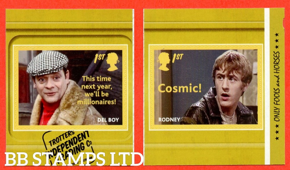 2021 Only Fools and Horses Del Boy and Rodney 2 x S/A (from Booklet PM78) (16.02.21)