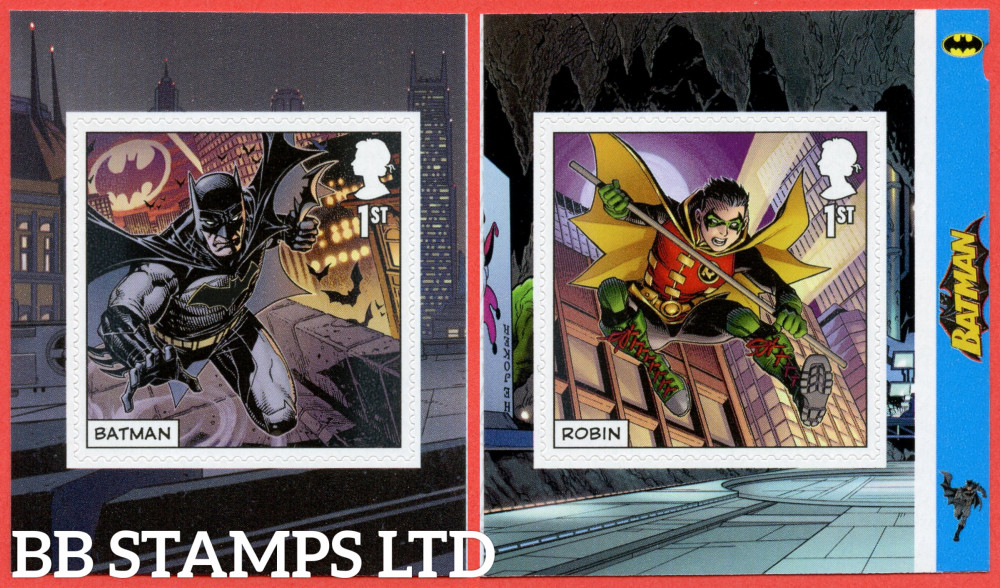 2021 2x1st DC Collection Batman and Robin S/A (from PM82) (Pair) (under UV light illustrations appear)  (17.09.21)