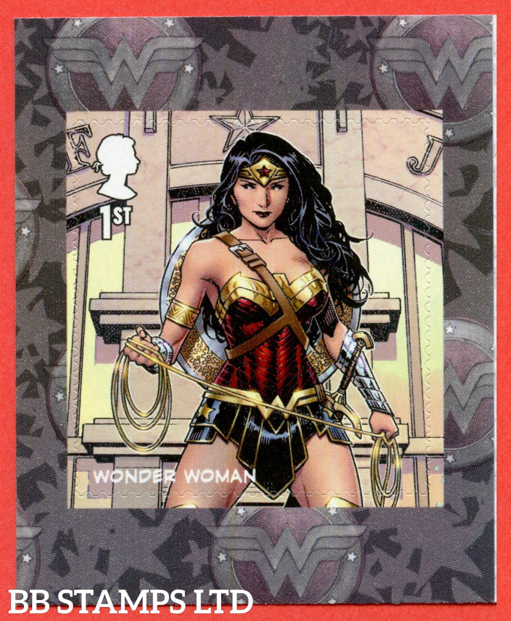 2021 1x1st DC Wonder Woman S/A (from PM83) (single stamp) (under UV light illustrations appear) (17.09.21)