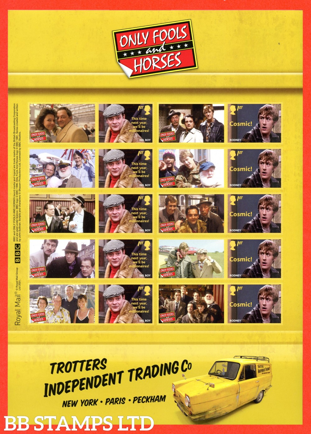 2021 Only Fools and Horses Smiler sheet (16.02.21)