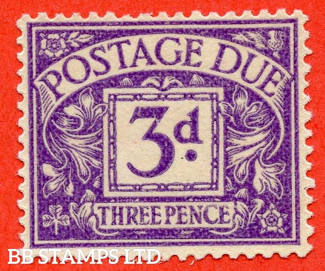 3d Dull Violet, printed on the GUMMED side