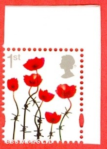2018 1st Class Poppy (Silver Head) Ex DY26 (The Great War 18) Cartor: Litho