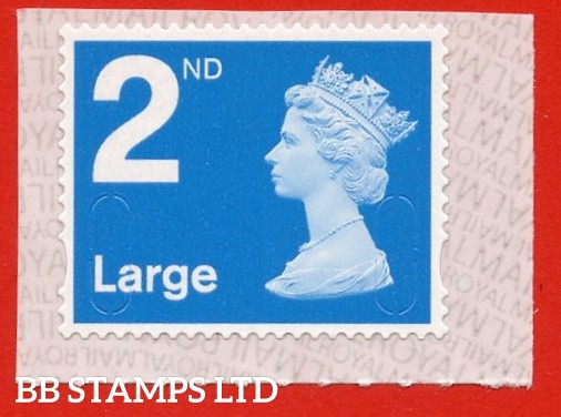 2nd Large Bright Blue MBIL M20L Royal Mail Backing Paper with alternate 2 lines inverted
