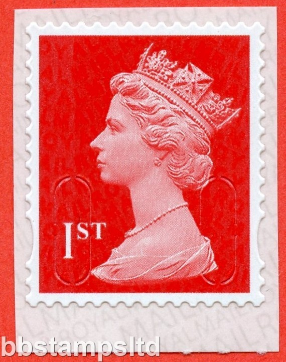 "1st Class Vermilion. Walsall ""16"" ""MBIL"" RM Backing Paper (Backing paper N/A on used)"