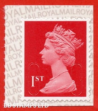 1st Class Bright Scarlet MSIL 'M18L' Royal Mail Backing with ALL upright