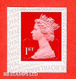 1st Class Bright Scarlet MTIL 'M17L' Royal Mail Inverted Backing (Backing paper N/A on used)