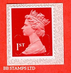"1st Class Bright Scarlet. Walsall ""17"" ""MBIL"" RM Inverted Backing Paper  (Backing paper N/A on used)"