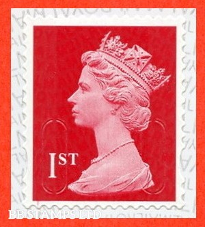 1st Class Scarlet M21L MCIL Royal Mail printed backing paper with alternate pairs of lines inverted 14.01.21