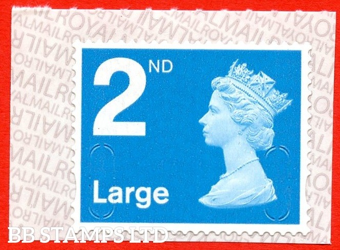 2nd Large Bright Blue MBIL M19L Royal Mail Backing Paper with alternate 2 lines inverted