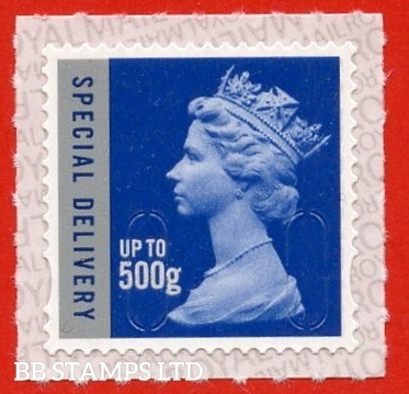 Special Delivery 500g Blue & Silver M20L Walsall Royal Mail Backing with alternate 2 lines inverted. (does not apply to used)