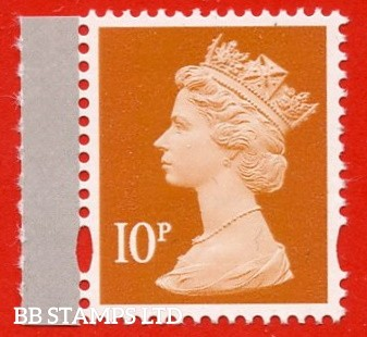 10p Dull Orange gravure (2 bands) ISP-Walsall - Ex DY21