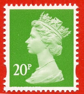 20p Bright Green (Our choice of printer)