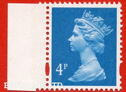 4p New Blue Enschede (2 Bands) (Blue phosphor) (Sheet stamp)