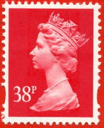 38p Rosine  Enschede (2 Bands) (Yellow Phosphor) (Sheet stamp)