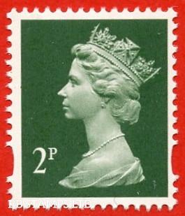 2p Deep Green Enschede (2 Bands) (Yellow phosphor) (Sheet stamp)