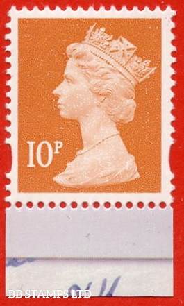 10p Dull Orange gravure Walsall (2 bands) (Blue phosphor) (DY3)