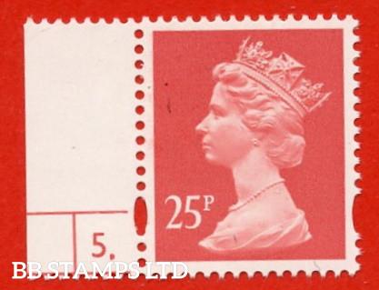 25p Rose-Red Harrison (Phosphorised Paper)( Sheet stamp)