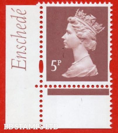 5p Dull Red-Brown  Enschede (2 Bands) (Blue Phosphor) (Sheet stamp)