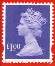 £1.00 Bluish Violet (2 Bands) (Blue phosphor) (our choice of source/printer)