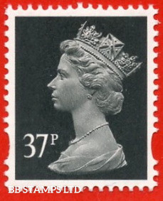 37p Grey-Black DLR (2 Bands) (Blue Phosphor) (Sheet stamp)