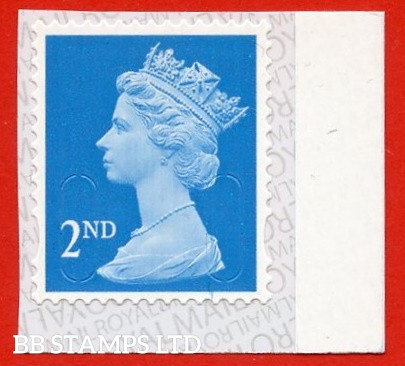 2nd Class Bright Blue 'M20L' MTIL, printed backing paper with pairs of lines inverted. (Picture for general reference only; our choice of Ls or sL supplied where both exist.) (Backing not applicable on used.) (1 stamp only.)