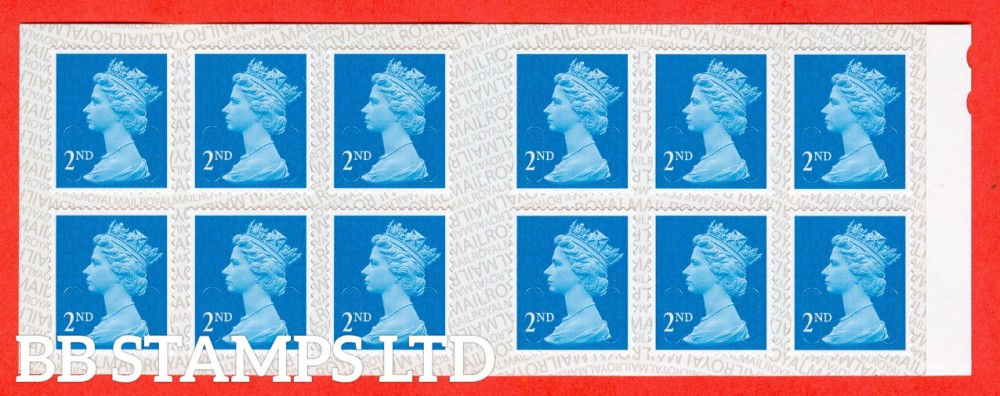 2nd Class Bright Blue 'M17L' MTIL Reversed Backing (1 stamp only)
