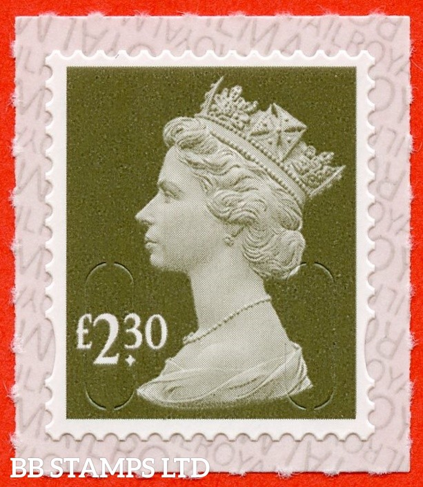 "£2.30 Sage "" M19L "" with pairs of Lines Inverted (Backing not applicable on used.) 19.3.19"