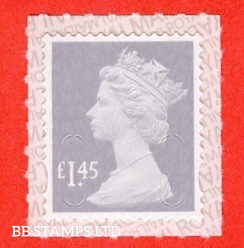 £1.45 Dove Grey M18L Security Stamp Royal Mail printed backing paper with pairs of lines inverted