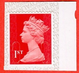 1st Class Bright Scarlet MSIL 'M17L' Pairs of lines inverted - Mint Only