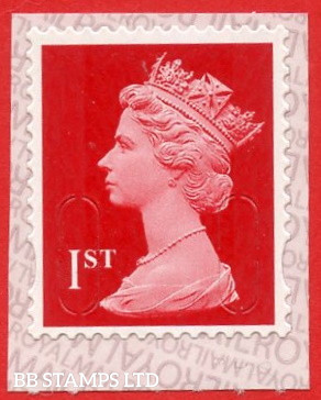 """1st Class Bright Scarlet. Walsall '16' """"MBIL""""  ALT Lines IVP (NEW Colour) (Backing paper N/A on used)"""
