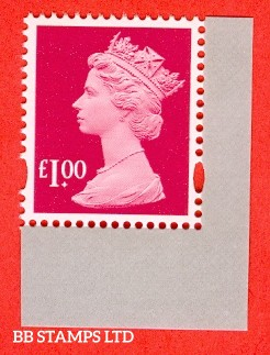 £1.00 Magenta gummed security stamp from DY21 (2017 The Machin Definitive) 'M17L' MPIL