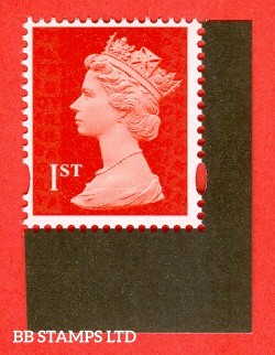 1st Class Bright Scarlet Gummed Security Stamp from DY21 (2017 The Machin Definitive) 'M17' MPIL