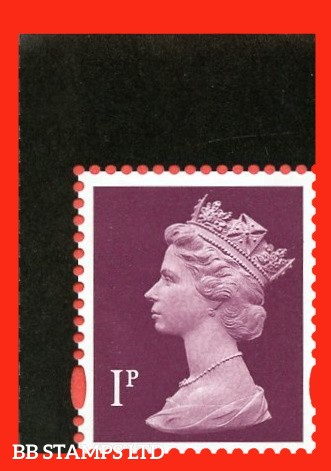 1p Crimson (Deep Shade) Litho ISP (Cartor) 'M20L' MPIL from 2020 Queen DY35 09.07.20