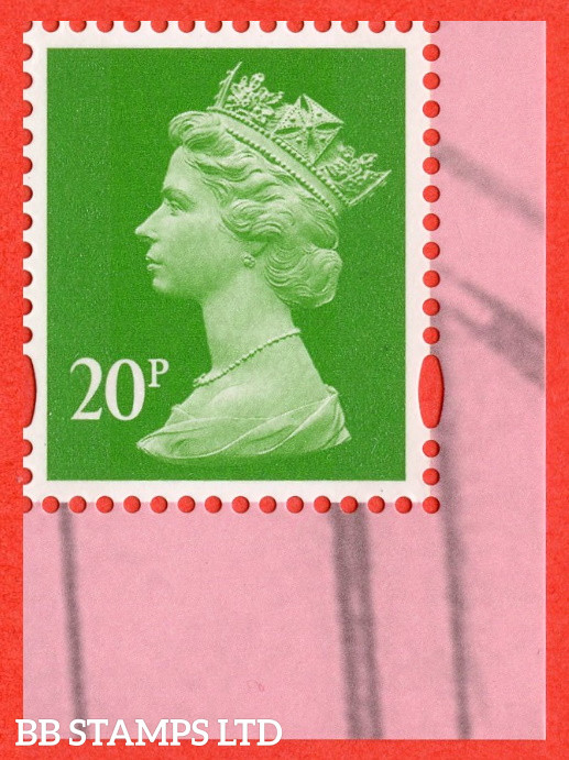 20p Bright Green Litho Cartor 'M21L' MPIL (DC Collection DY40) (17.09.21)