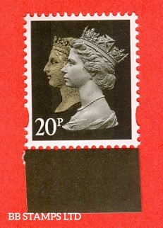 20p Brownish Black Double Head Walsall (2 band) Ex DY21 (1 stamp only)