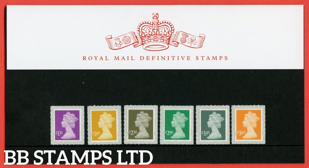 2019 New Rates £1.35 - £3.60 Definitive (110) Pack